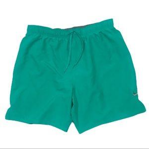 Nike Teal Green Bathing Suit Trunks Mesh Lining